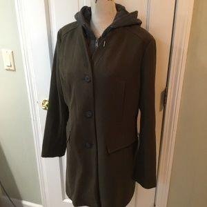 Winter coat w built in hoodie (Dickey)